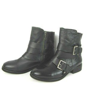TREASURE & BOND Moto Boots Black Leather 7.5 M
